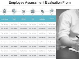 Employee Assessment Evaluation From Ppt Powerpoint Presentation File Model