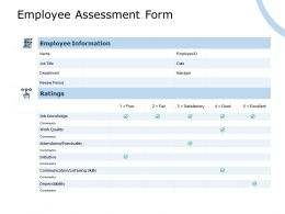 Employee Assessment Form Comments Ppt Powerpoint Presentation Styles Smartart