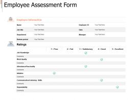 Employee Assessment Form Information Ppt Powerpoint Presentation Template Example