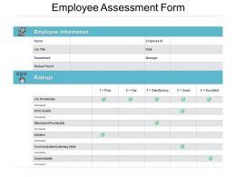 Employee Assessment Form Ppt Powerpoint Presentation File Layouts