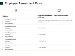 Employee Assessment From Ppt Powerpoint Presentation Icon