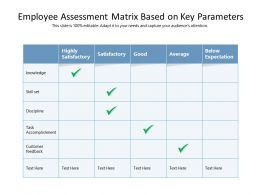 Employee Assessment Matrix Based On Key Parameters