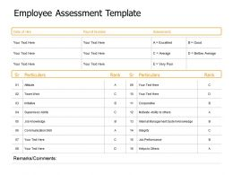 Employee Assessment Template Excellent Ppt Powerpoint Presentation Styles Designs