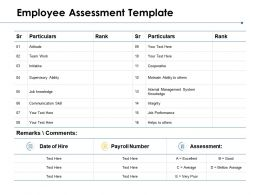 Employee Assessment Template Internal Management System Knowledge Ppt Powerpoint Presentation Model Ideas