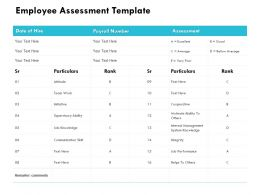 Employee Assessment Template Supervisory Ability Ppt Powerpoint Presentation Styles