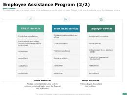 Employee Assistance Program Abuse Health Ppt Powerpoint Presentation File Outline