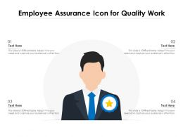 Employee Assurance Icon For Quality Work