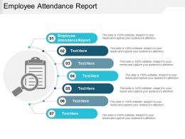 Employee Attendance Report Ppt Powerpoint Presentation Clipart Cpb