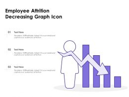 Employee Attrition Decreasing Graph Icon