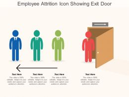 Employee Attrition Icon Showing Exit Door