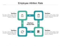 Employee Attrition Rate Ppt Powerpoint Presentation Show Model Cpb