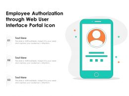 Employee Authorization Through Web User Interface Portal Icon