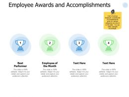 Employee Awards And Accomplishments Performance Ppt Powerpoint Presentation