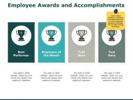 Employee Awards And Accomplishments Performer Ppt Powerpoint Presentation Pictures