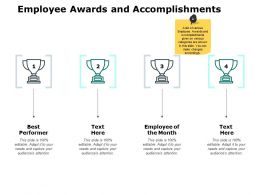 Employee Awards And Accomplishments Ppt Powerpoint Presentation File Show