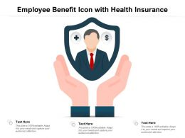 Employee Benefit Icon With Health Insurance