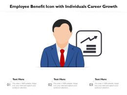 Employee Benefit Icon With Individuals Career Growth