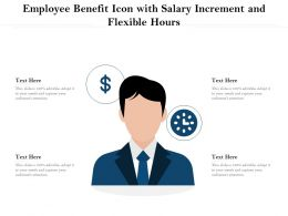 Employee Benefit Icon With Salary Increment And Flexible Hours