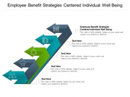 Employee Benefit Strategies Centered Individual Well Being Ppt Powerpoint Presentation Cpb