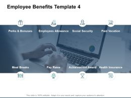 Employee Benefits Achievement Award Bonuse Ppt Powerpoint Presentation Gallery Example Introduction