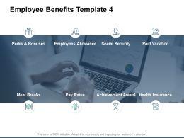 Employee Benefits Achievement Award Bonuse Ppt Powerpoint Presentation Gallery Example Introduction
