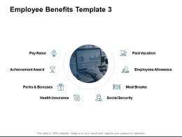Employee Benefits Achievement Award Checklist Ppt Powerpoint Presentation Gallery Example Topics