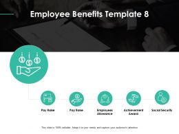 Employee Benefits Achievement Award Ppt Powerpoint Presentation Gallery Designs Download