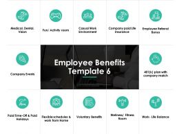 Employee Benefits Company Events Ppt Powerpoint Presentation Gallery Design Ideas