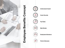 Employee Benefits Concept Achievement Award Ppt Powerpoint Presentation File