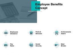 Employee Benefits Concept Achievements Award Meal Breaks Ppt Powerpoint Presentation Summary Format