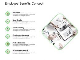 Employee Benefits Concept Allowance Ppt Powerpoint Presentation Professional Skills