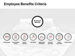 Employee Benefits Criteria Achievement Award Ppt Powerpoint Presentation Infographic