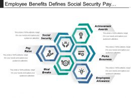 employee_benefits_defines_social_security_pay_raise_and_awards_Slide01