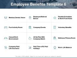 Employee Benefits Employee Referral Bonus Vision Ppt Powerpoint Presentation Gallery Gridlines