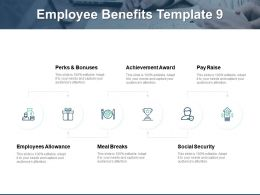 Employee Benefits Employees Allowance Social Security Ppt Powerpoint Presentation Gallery Layout Ideas