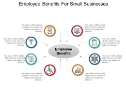 Employee Benefits For Small Businesses Ppt Design