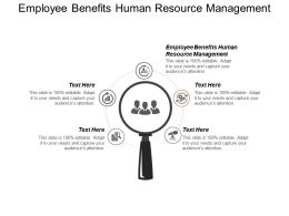 Employee Benefits Human Resource Management Ppt Powerpoint Presentation Pictures Demonstration Cpb