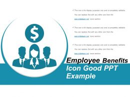 Employee Benefits Icon Good Ppt Sample