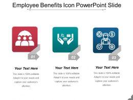 Employee Benefits Icon Powerpoint Slide