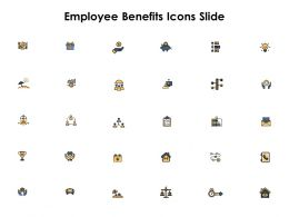 Employee Benefits Icons Slide Ppt Powerpoint Presentation File Backgrounds