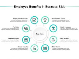 Employee Benefits In Business Slide
