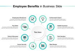 Employee Benefits In Business Slide