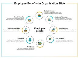Employee Benefits In Organisation Slide