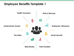 Employee Benefits Ppt Infographic Template Show