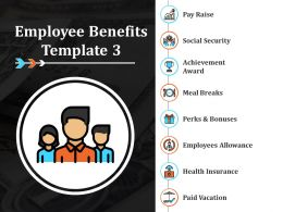 Employee Benefits Ppt Infographic Template Slide Portrait