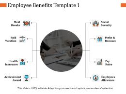 Employee Benefits Ppt Visual Aids Infographic Template