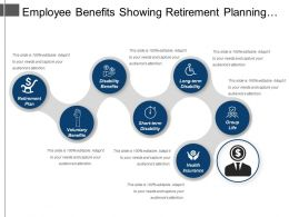 Employee Benefits Showing Retirement Planning Short Term Disability