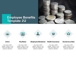 Employee Benefits Social Securities Pay Raise Ppt Powerpoint Presentation Summary Portrait