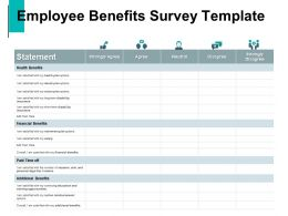 Employee Benefits Survey Financial Benefits Health Benefits Ppt Powerpoint Presentation Summary Skills