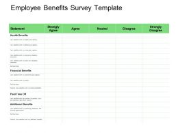 Employee Benefits Survey Statement Ppt Powerpoint Presentation Infographic Template